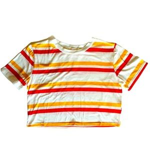 🛑 Romwe Striped Crop Top Size Small